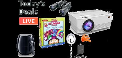 Ofertas del día - Juguetes, proyectores wifi, binoculares y freidoras de aire